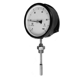 Gas Filled Expansion Thermometer, Rigid Stem Vertical/Bottom Entry
