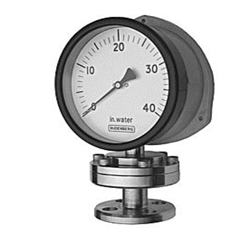Schaffer Diaphragm Gauge, DMC Plastic Case, Flanged Connection