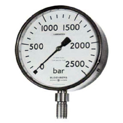 Very High Pressure Gauge with Safety Pattern